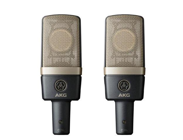 AKG C314 | kondensatormikrofon med fire karakterisitkker, stereopar