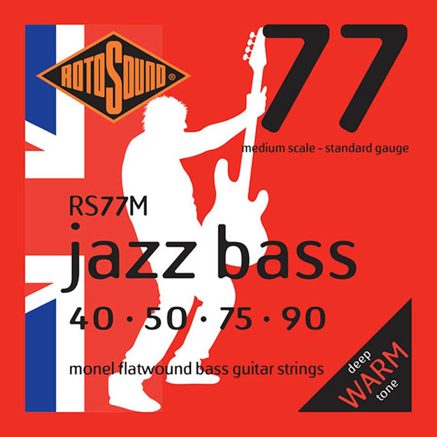 Rotosound RS77M Jazz Bass Flat Wound - Medium Scale 40-90