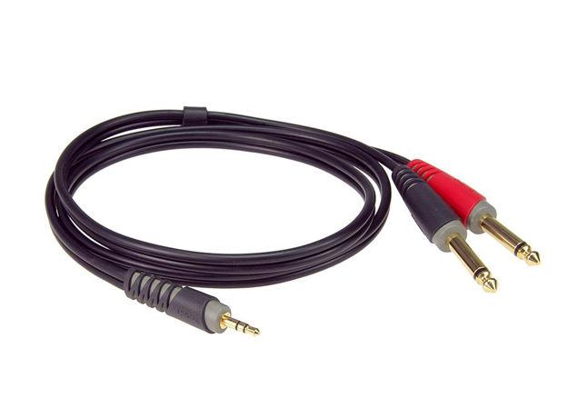 Klotz Y-kabel Stereo Minijack - X2 Jack mono  3m