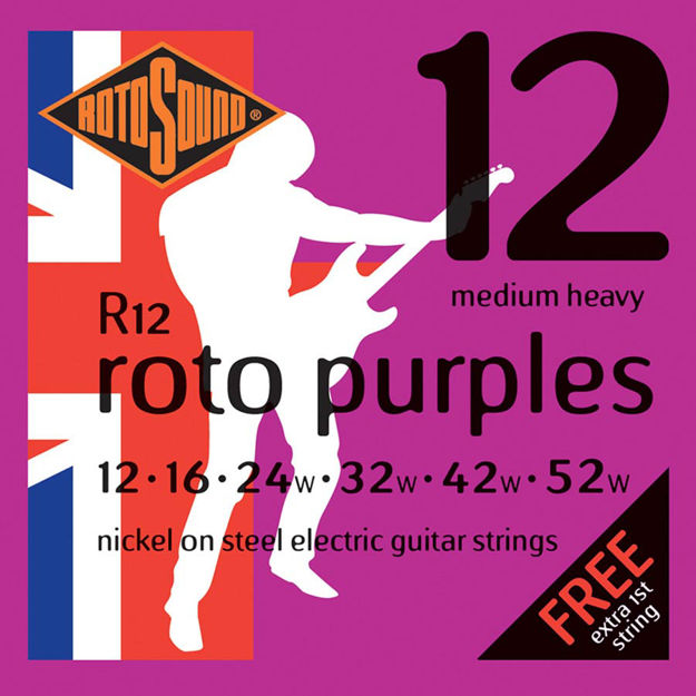 Rotosound R12 Roto Purples - Medium Heavy 12-52