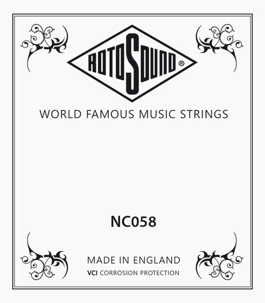 Rotosound NC058 Single String - Nickel Wound