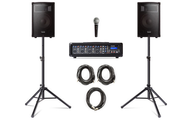 Alesis PA System In A Box Bundle | 280W (80W CONTINUOUS) 4-CHANNEL PA SYSTEM