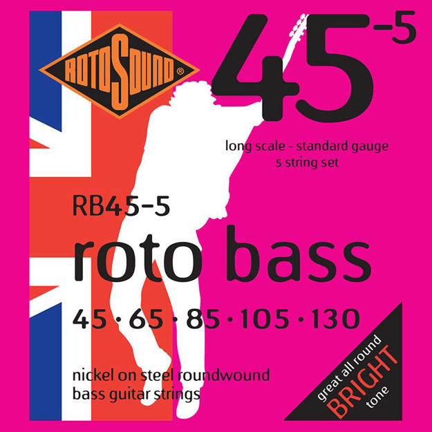 Rotosound RB45-5 Roto Bass 5-str - Nickel 45-130