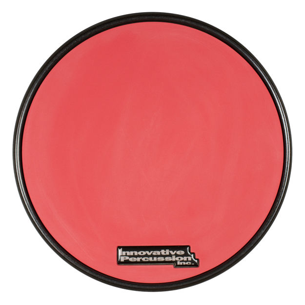 Innovative Percussion Drumsticks Rp-1r   Practice Pad Red Gum Rubber Pad With Rim