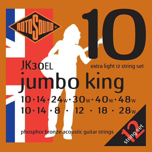 Rotosound JK30EL Jumbo King Acoustic 12-str - Extra Light 10-48