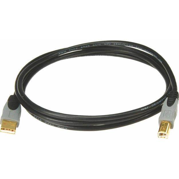 Klotz USB High Speed USB 2.0 A-B sort 3 m
