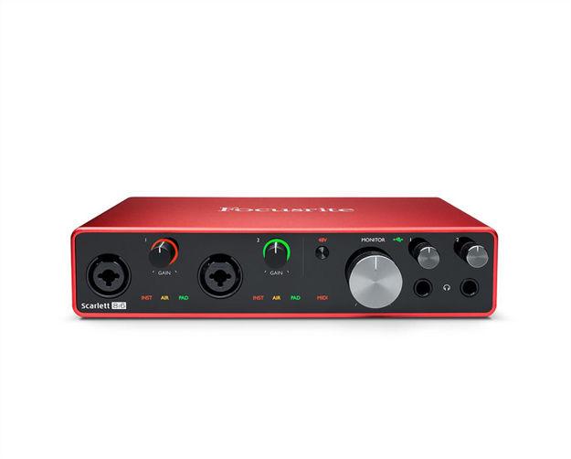 Focusrite Scarlett 8i6 Gen3   USB-lydkort, 8 inn/6 ut