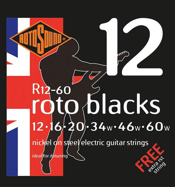 Rotosound R12-60 Roto Blacks - Custom 12-60