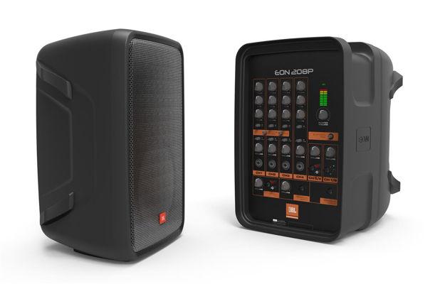 JBL EON208P | alt-i-ett pakke, 8 kanals mikser og 2 høyt 300W