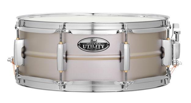"Pearl Modern Utility Steel 14""x5.5"" Snare Drum | Texstured Steel 14""x5.5"""
