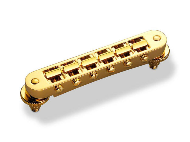 Schaller GTM Tune-O-Matic Guitar Bridge - Gold