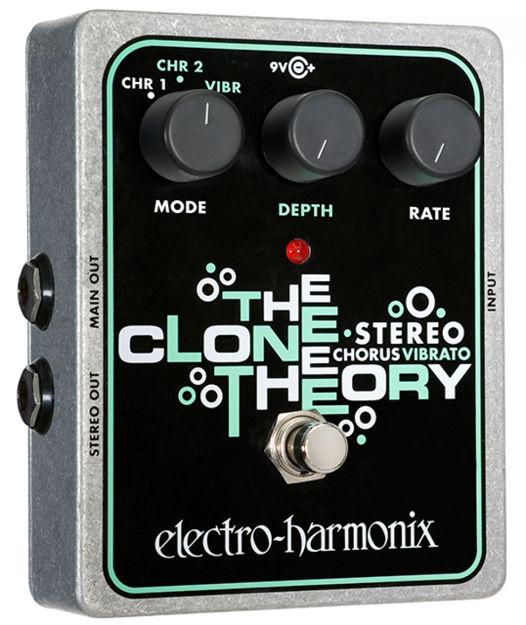 Electro-Harmonix STEREO CLONE THEORY Analog Chorus/Vibrato, 9.6DC-200 PSU included