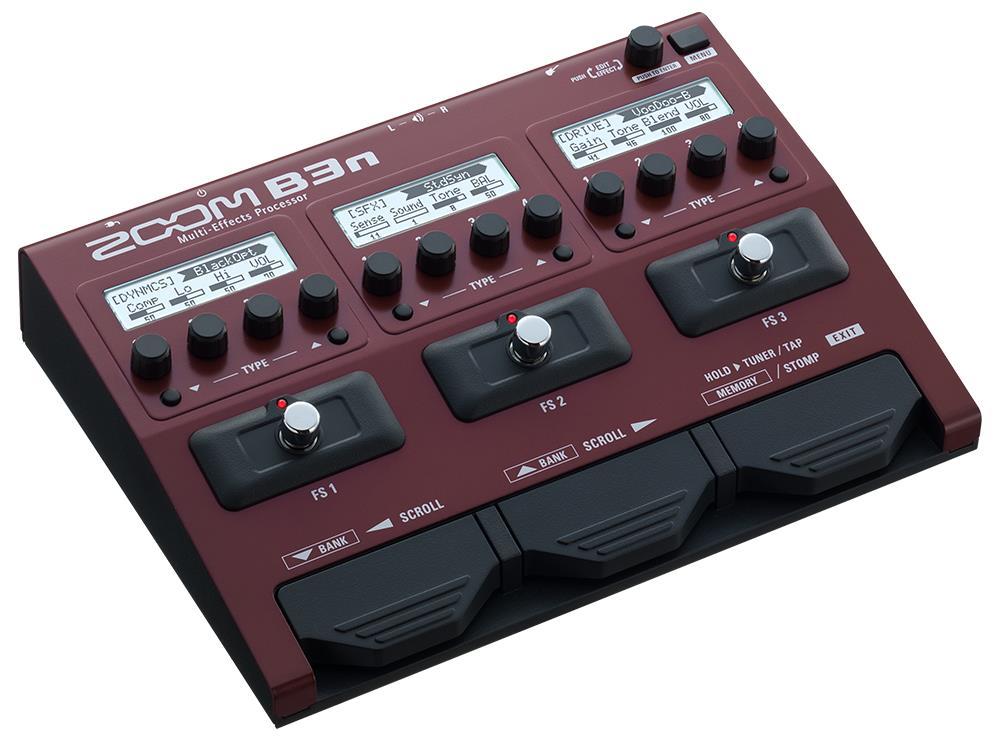 Zoom B3n bassgitar effektpedal og amp simulator