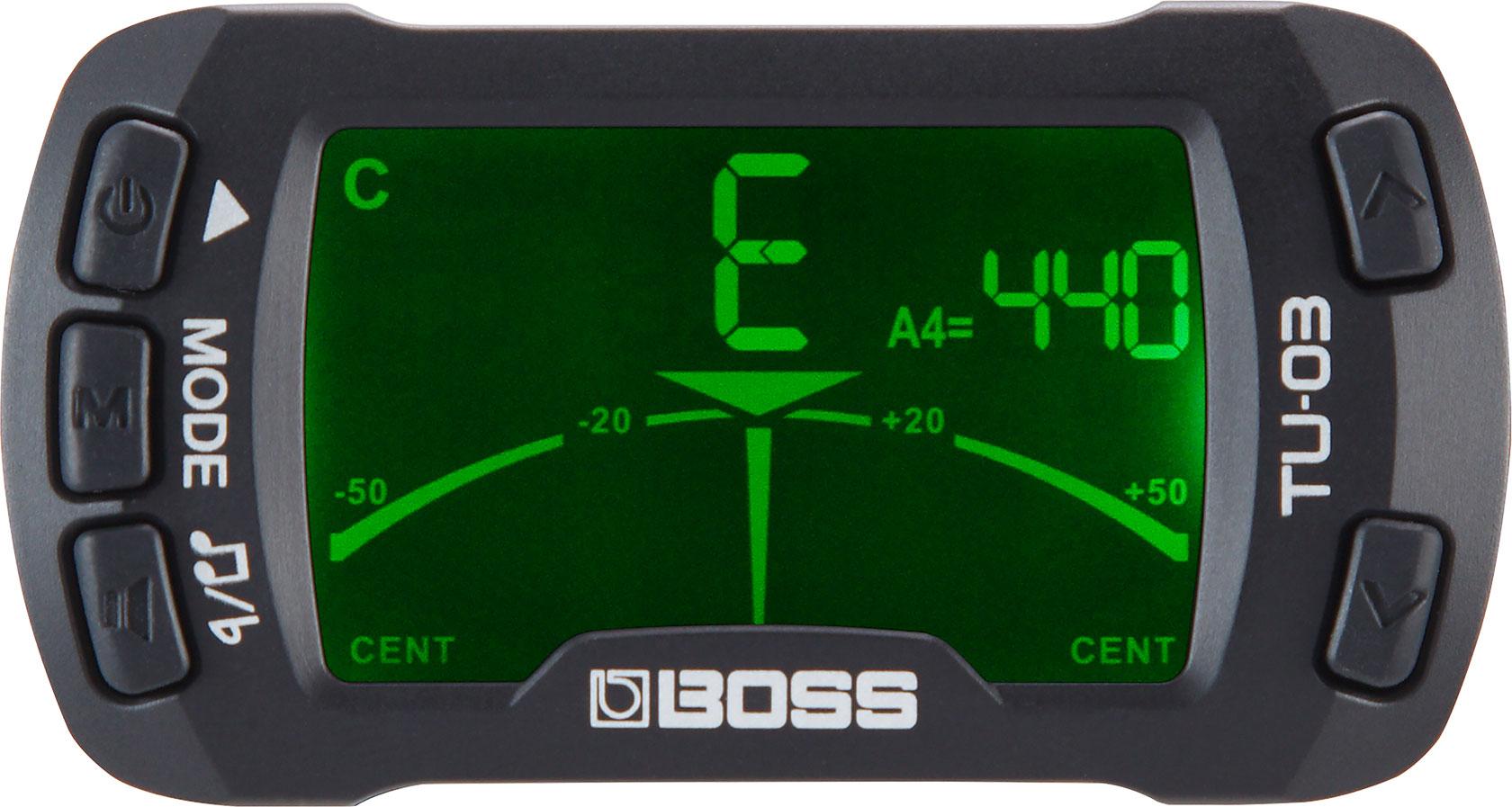 Boss TU-03 Clip-On Tuner & Metronome