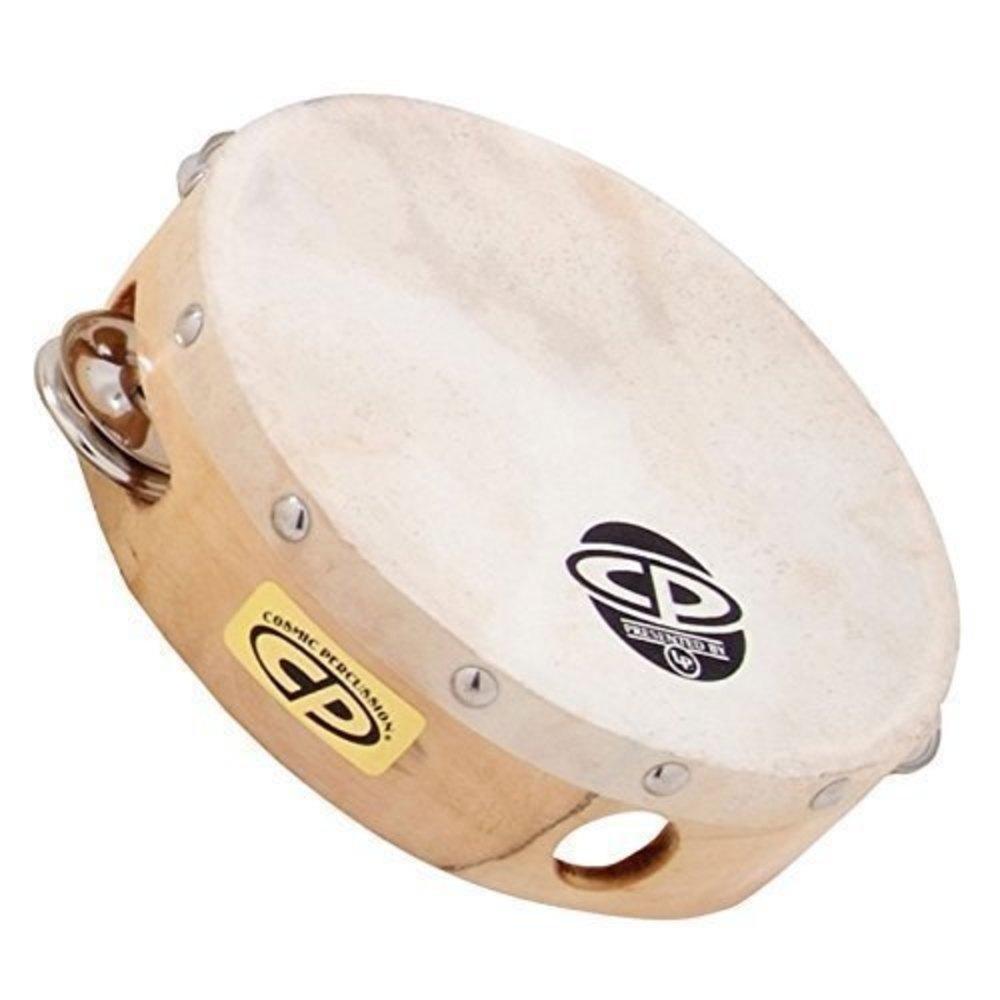 "Latin Percussion CP378 Tambourine Wood - 8"", single row w/Head"