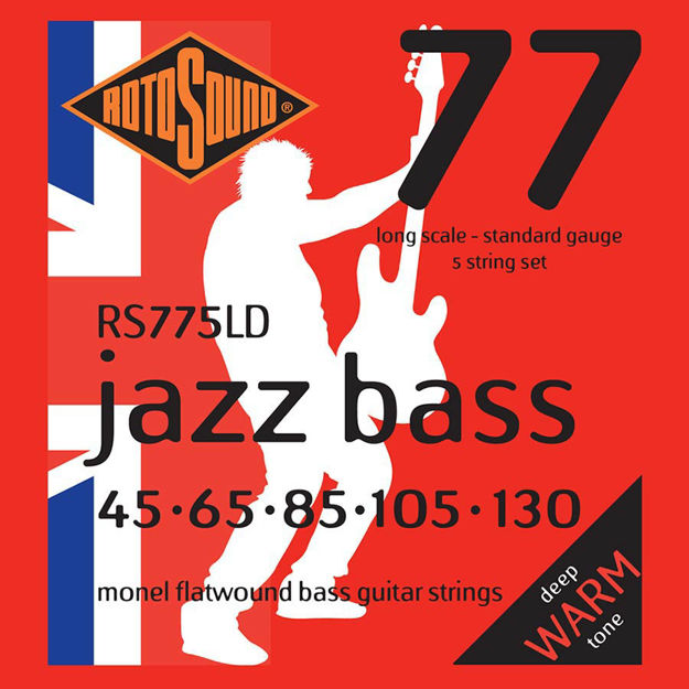 Rotosound RS775LD Jazz Bass Flat Wound - 5-str - 45-130