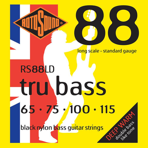 Rotosound RS88S Tru Bass Nylon Flatwound 65-115 Short Scale