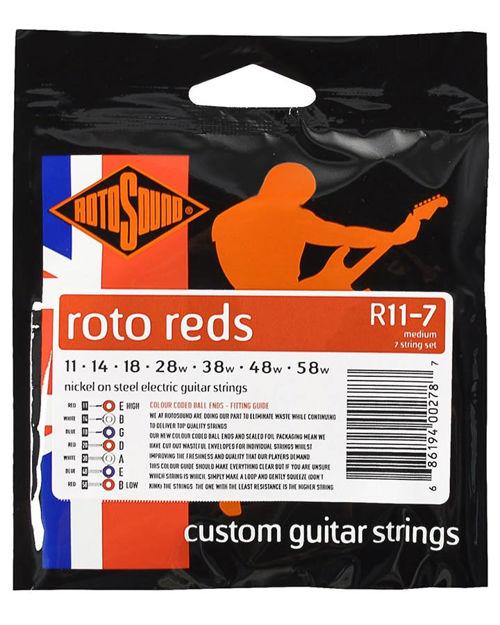 Rotosound R11-7 Roto Reds 7-str - Medium 11-58