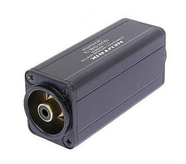Neutrik Mini balanserings adapter XLRM Hann Phono Sort