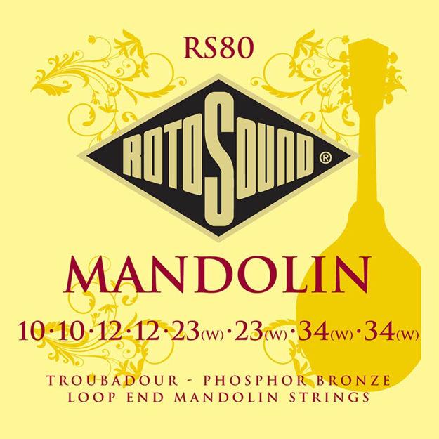 Rotosound RS80 Mandolin Set - Loop End