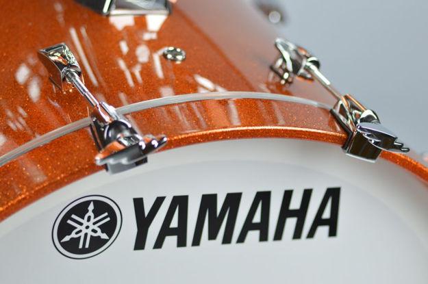 Yamaha Absolute Maple Hybrid Bass Drum 20x16 Orange Sparkle