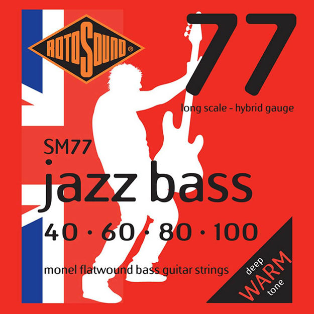 Rotosound SM77 Jazz Bass Flat Wound - 40-100