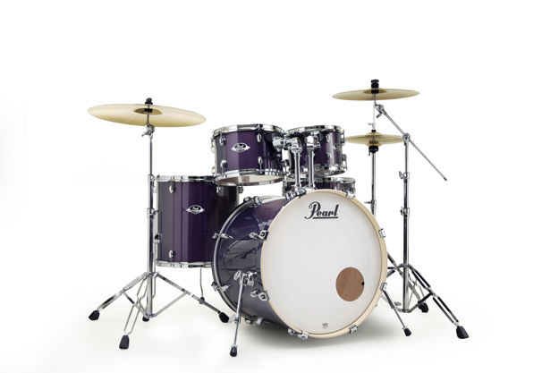 Pearl Export 5 pc Drum Set with HWP830 and SBR Cymbal Pack | Purple Nebula