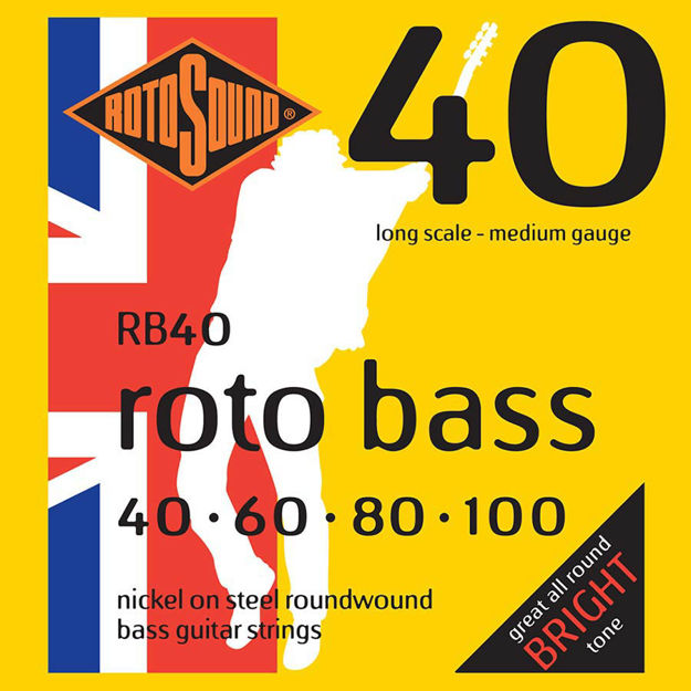 Rotosound RB40 Roto Bass - Nickel  40-100