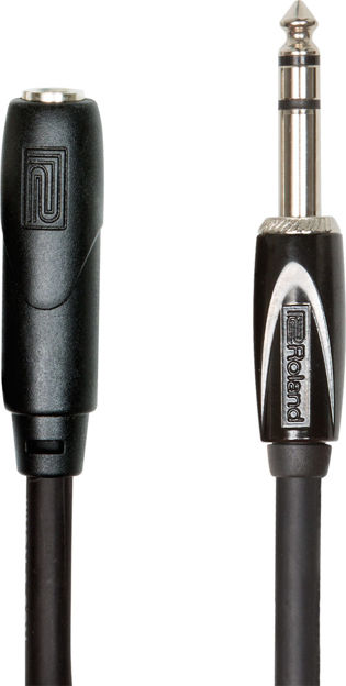 """Roland RHC-25-1414 25FT / 7.5M HEADPHONE EXTENSION CABLE, 1/4"""" TRS MALE TO FEMALE"""