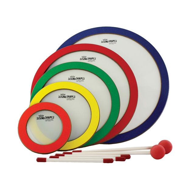 "Remo Sound ShapeS, Circle Pack, 6""/8.25""/10.5""/12.75""/15"", 5 Pc., Random Colors"