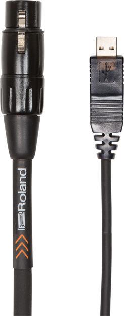 Roland RCC-10-USXF 10FT / 3M INTERCONNECT CABLE, XLR (F) - USB, BLACK PVC