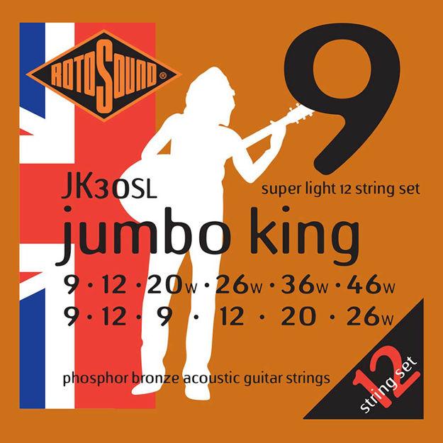 Rotosound JK30SL Jumbo King Acoustic 12-str - Super Light 9-46