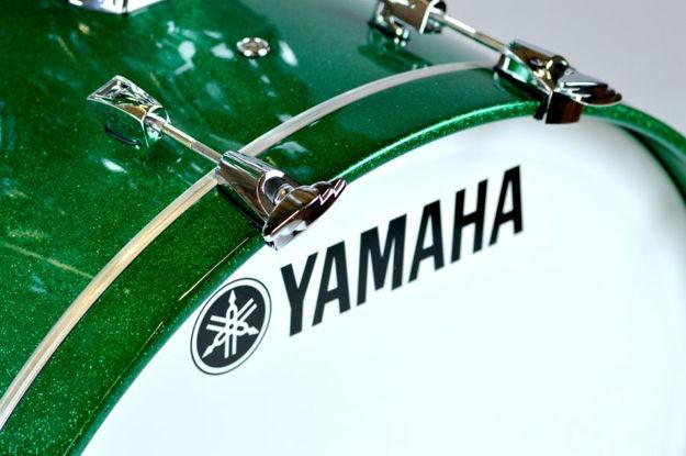 Yamaha Absolute Maple Hybrid Bass Drum 20x16 Jade Green Sparkle