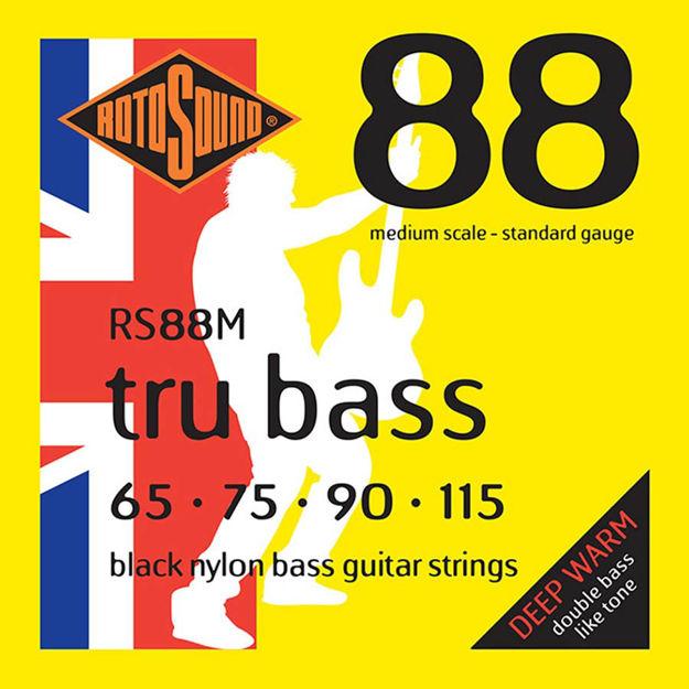 Rotosound RS88M Tru Bass Nylon Flatwound 65-115 Medium Scale