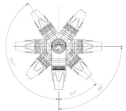 Neutrik NC3MRX-BAG XLR plugg 3P Han Sort Vinkel