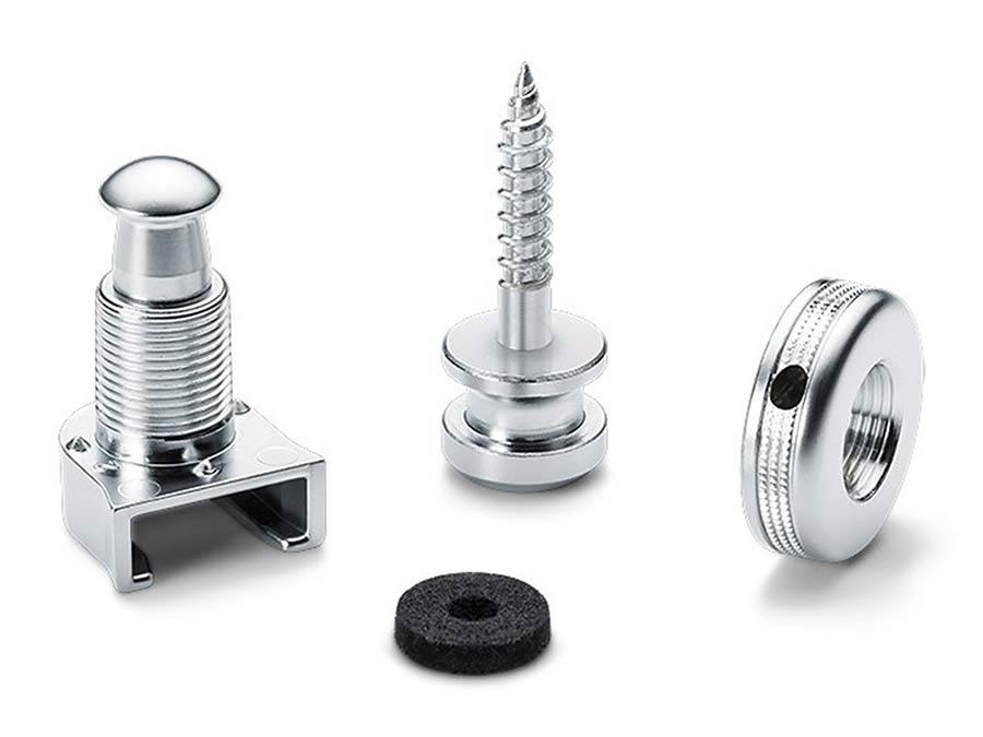 Schaller S-locks Strap Locks - Chrome