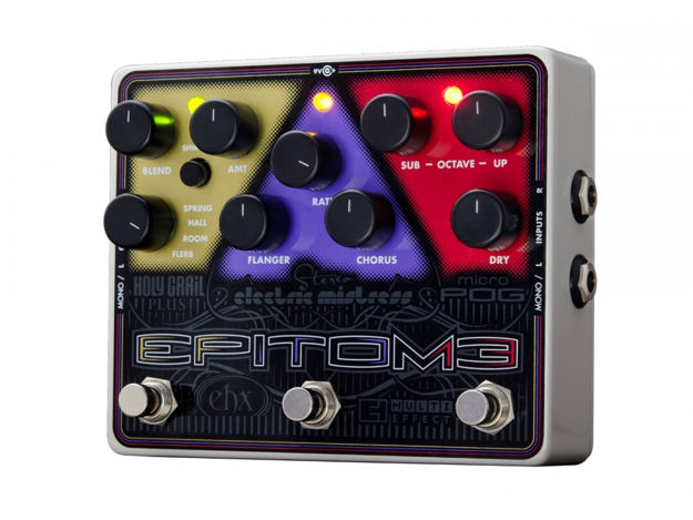 Electro-Harmonix EPITOME Multi-effects pedal: Micro POG, Stereo Electric Mistress, Holy Grail Plus, 9.6DC-200 PSU Included