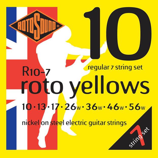 Rotosound R10-7 Roto Yellows 7-str - Regular 10-56