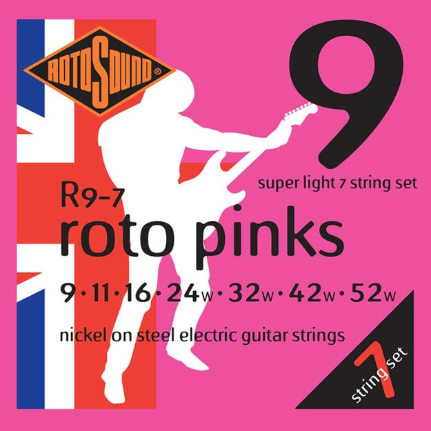 Rotosound R9-7 Roto Pinks 7-str - Super Light 9-52