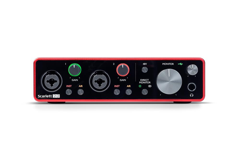 Focusrite Scarlett 2i2 Gen3 | USB-lydkort, 2 inn/2 ut