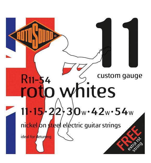 Rotosound R11-54 Roto Whites - Custom 11-54