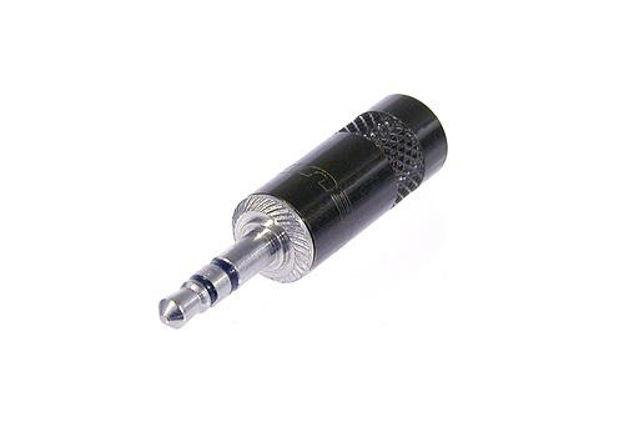 Neutrik NYS231-B minijack plugg 3P Sort/Gull