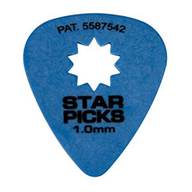 STAR PICKS BLISTER PACK (12PCS) 1.0MM BLUE