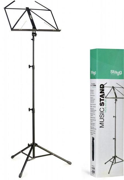 STAGG MUS A4BK NOTESTATIV KORPS M/BAG