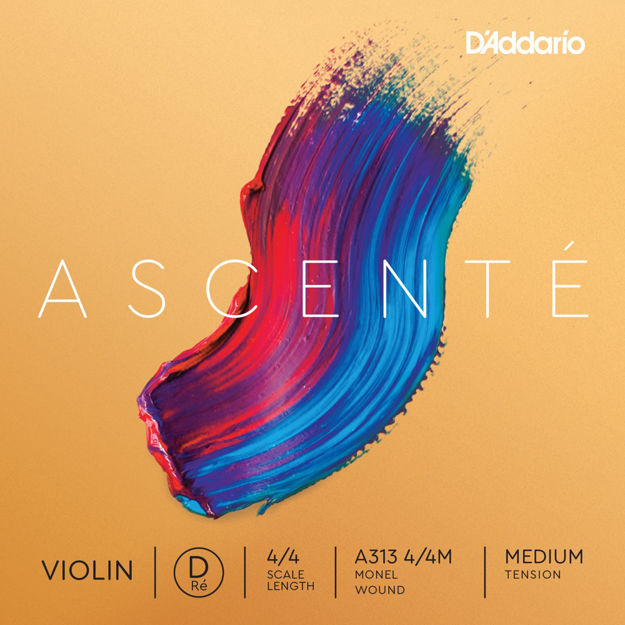 D'Addario Ascenté Violin D String, 4/4 Scale, Medium Tension