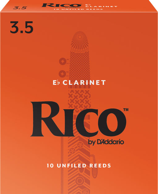 Rico by D'Addario Alto Clarinet Reeds, Strength 3.5, 10-pack