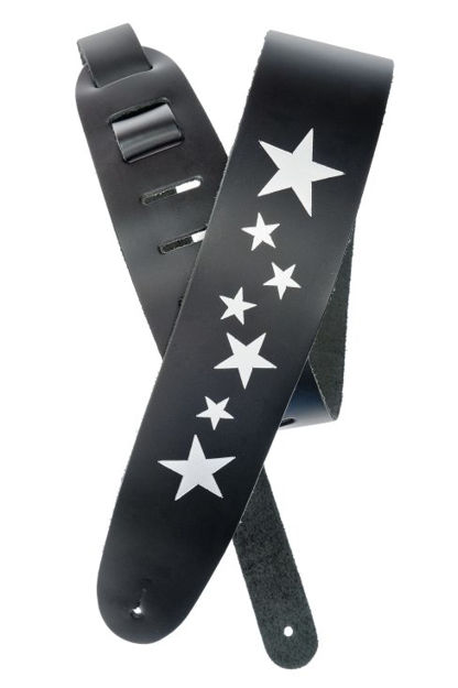 D'Addario Icon Collection Leather Guitar Strap, Stars
