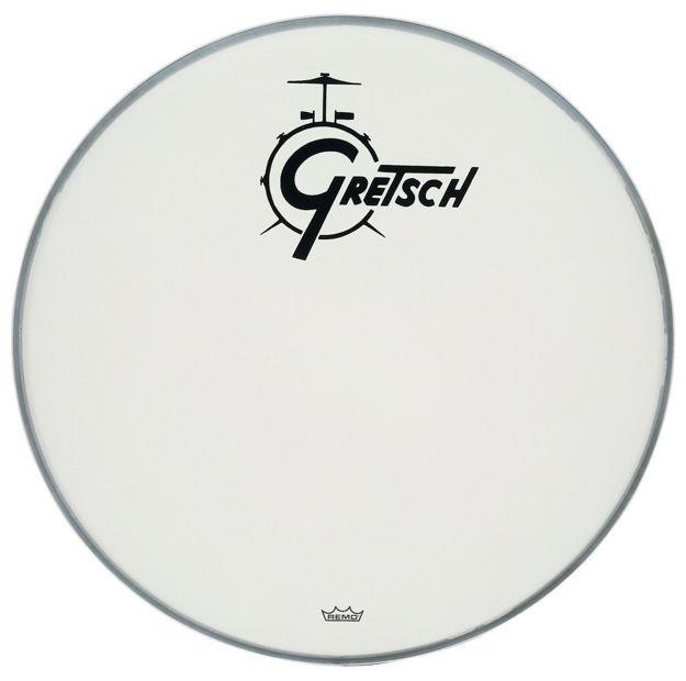Gretsch Bassdrum head Ambassador white coated - 20''