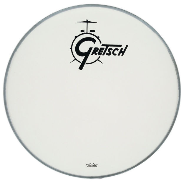 Gretsch Bassdrum head Ambassador white coated - 20''