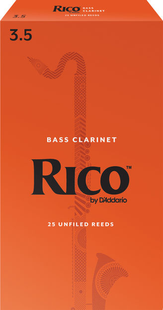 Rico by D'Addario Bass Clarinet Reeds, Strength 3.5, 25 Pack